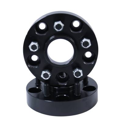 """Search Alloy Wheels - Rugged Ridge Wheels and Spacers - Rugged Ridge - Rugged Ridge 15201.06 1375"""" Wheel Spacer Adaptor Pair Jeep Wrangler JK 5 On 5 To 5 On 45 Inch/2007-2011 Wrangler"""