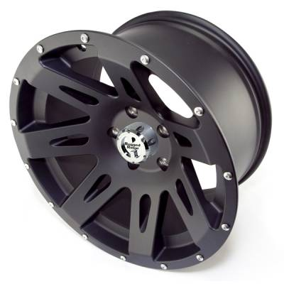 Search Alloy Wheels - Rugged Ridge Wheels and Spacers - Rugged Ridge - Rugged Ridge 15301.01 Aluminum Wheel 17X9 Jeep Wrangler JK 2007-2010 Black Satin 12MM Offset 5 On 5