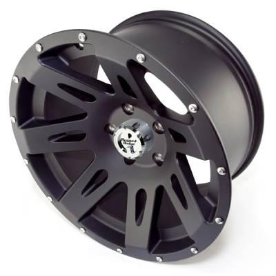 Search Alloy Wheels - Rugged Ridge Wheels and Spacers - Rugged Ridge - Rugged Ridge 15301.01 Aluminum Wheel 17X9 Jeep Wrangler JK 2007-2010 Black Satin 12MM Offset 5 On 5