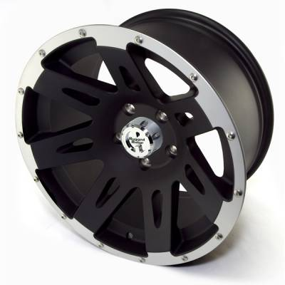 Search Alloy Wheels - Rugged Ridge Wheels and Spacers - Rugged Ridge - Rugged Ridge 15301.10 Aluminum Wheel 17X9 Jeep Wrangler JK 2007-2010 Black with Machined Lip 12MM Offset 5 On 5