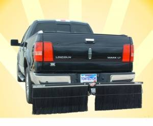 Mud Flaps by Style - Towtector Brush System - Towtector Premium with Double Brush Strips - Truck, Dually and RV Models