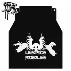 "Snow Flaps - Arctic Cat F-Series 2010+ - ""Live 2 Ride"" Logo"
