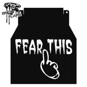"Snow Flaps - Arctic Cat M-Series & X-Fire 2005-2008 - ""Fear This"" Logo"