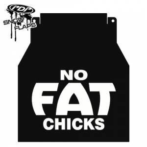 "Snow Flaps - Arctic Cat M-Series & X-Fire 2005-2008 - ""No Fat Chicks"" Logo"