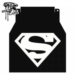 "Snow Flaps - Arctic Cat M-Series & X-Fire 2005-2008 - ""Superman"" Logo"