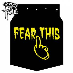 "Snow Flaps - Arctic Cat M-Series & X-Fire 2009-2011 - ""Fear This"" Logo"
