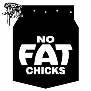 "Snow Flaps - Arctic Cat Pro Climb 2012+ - ""No Fat Chicks"" Logo"
