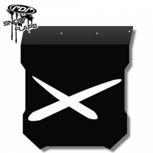 "Snow Flaps - Polaris Pro RMK/Assault 2011+ - ""Extreme"" Logo"