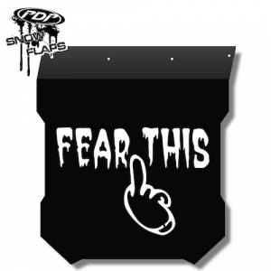 "Snow Flaps - Polaris Pro RMK/Assault 2011+ - ""Fear This"" Logo"