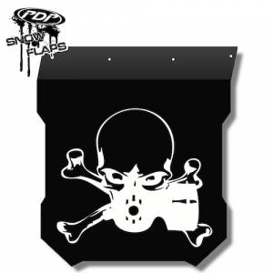 "Snow Flaps - Polaris Pro RMK/Assault 2011+ - ""Gasmask"" Logo"