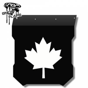 "Snow Flaps - Polaris Pro RMK/Assault 2011+ - ""Maple Leaf"" Logo"