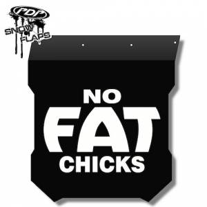 "Snow Flaps - Polaris Pro RMK/Assault 2011+ - ""No Fat Chicks"" Logo"