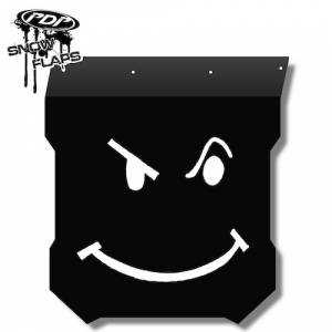 "Snow Flaps - Polaris Pro RMK/Assault 2011+ - ""Smiley"" Logo"