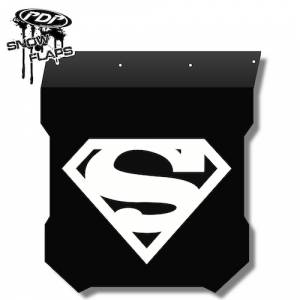"Snow Flaps - Polaris Pro RMK/Assault 2011+ - ""Superman"" Logo"