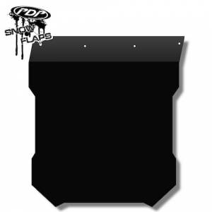 Snow Flaps - Polaris Pro RMK/Assault 2011+ - Plain Black