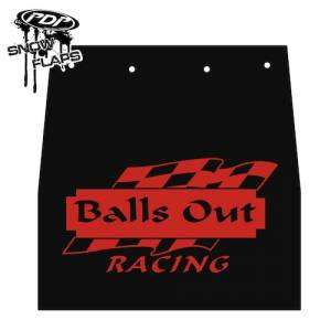 "Snow Flaps - Ski Doo REV 2004-2007 - ""Balls Out"" Logo"
