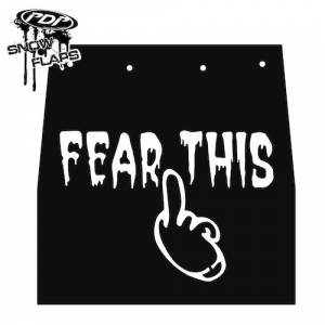 "Snow Flaps - Ski Doo REV 2004-2007 - ""Fear This"" Logo"