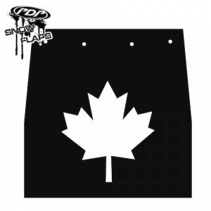 "Snow Flaps - Ski Doo REV 2004-2007 - ""Maple Leaf"" Logo"