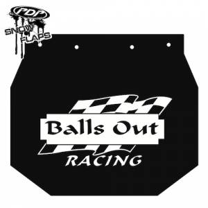 "Snow Flaps - Ski Doo XP 2008+ - ""Balls Out"" Logo"