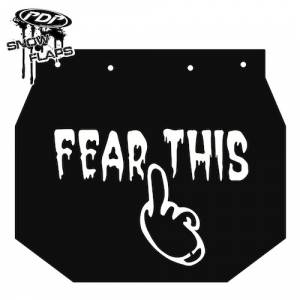 "Snow Flaps - Ski Doo XP 2008+ - ""Fear This"" Logo"