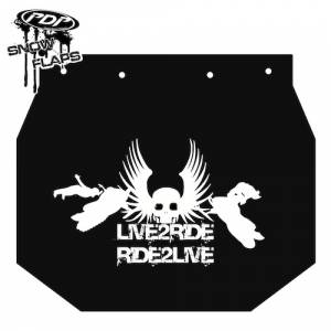 "Snow Flaps - Ski Doo XP 2008+ - ""Live 2 Ride"" Logo"
