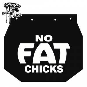 "Snow Flaps - Ski Doo XP 2008+ - ""No Fat Chicks"" Logo"