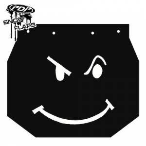 "Snow Flaps - Ski Doo XP 2008+ - ""Smiley"" Logo"