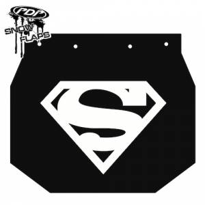 "Snow Flaps - Ski Doo XP 2008+ - ""Superman"" Logo"
