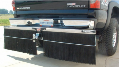 "Towtector Aluminum Rock Guard (Aluminum Frame) - Full Size Trucks (78"" Rock Guard System) - Towtector - Towtector 17816-AL Aluminum Brush System 78"" Wide x 16"" Height"