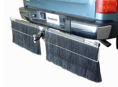"Shop RV Mud Flaps - Towtector - Towtector 17814-CH Chrome Brush System 78"" Wide x 14"" Height"