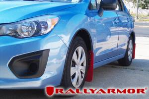 Mud Flaps for Cars & SUVs - Rally Armor Mud Flaps | Splash Guards - 2008-2012 Subaru STI Hatchback