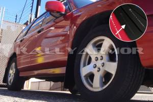 Mud Flaps for Cars & SUVs - Rally Armor Mud Flaps | Splash Guards - 1998-2002 Subaru Forester