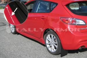 Mud Flaps for Cars & SUVs - Rally Armor Mud Flaps | Splash Guards - 2010-2012 Mazda 3/Speed 3