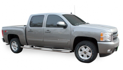 """Nerf Bars - Stainless Steel - Luverne - Luverne 460719 3"""" Stainless Steel Nerf Bars Chevy/GMC Silverado/Sierra Crew Cab 6.5' 1999-2012"""