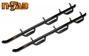 MDF Exterior Accessories - Running Boards | Nerf Bars - N Fab Bed Access Nerf Steps