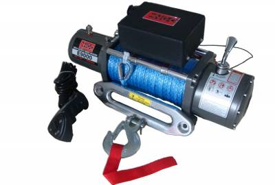 ENGO 77-09000S E9000S 9K Winch with Synthetic Rope