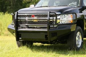 Bumpers - Fab Fours Black Steel Bumpers - Chevy HD 2011-2012