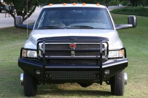 Bumpers - Fab Fours Black Steel Bumpers - Dodge HD 1994-2002
