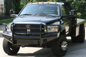 Bumpers - Fab Fours Black Steel Bumpers - Dodge HD 2006-2009