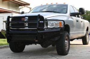 Bumpers - Fab Fours Black Steel Bumpers - Dodge HD 2003-2005