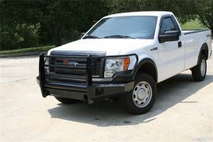 Bumpers - Fab Fours Black Steel Bumpers - Ford F150 2009-2012