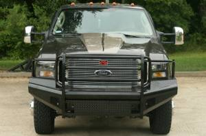 Bumpers - Fab Fours Black Steel Bumpers - Ford Super Duty 2005-2007