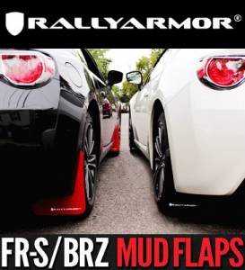 Mud Flaps for Cars & SUVs - Rally Armor Mud Flaps | Splash Guards - 2013+ Subaru BRZ and Toyota FR-S