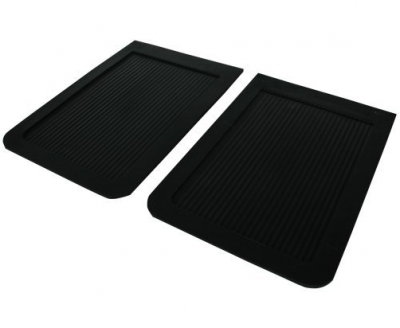 "Mud Flaps by Style - Rubber Mud Flaps - Contura-Highland - Highland 1007100 18"" X 12"" Heavy Duty Rubber Truck Mud Flaps Pair"