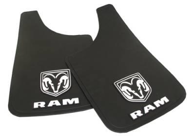 """Plasticolor 000509R01 Dodge Ram Mud Flaps Pair 11"""" x 19"""""""