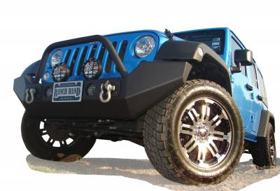 MDF Exterior Accessories - Bumpers - Ranch Hand - Ranch Hand BHJ071BHR Bullnose Front Bumper Jeep JK Wrangler 2007-2013