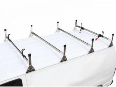Vantech Van Racks - Universal Racks - Vantech - Vantech H2180B Universal 1 Bar System Black Steel (72-75 Inch Wide) Drilling Required