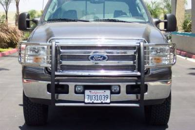 MDF Exterior Accessories - Grille Guards & Brush Guards - Steelcraft - Steelcraft 51257 Stainless Steel Grille Guard Ford F250/F350 Super Duty (2005-2007)