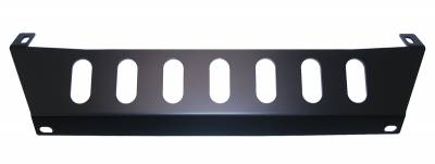 MDF Exterior Accessories - Bumpers - Hanson Offroad - Hanson Offroad JKFSP-P Jeep JK Front Bumper Skid Plate (Steel)
