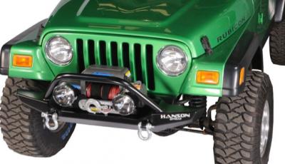 "Jeep Bumpers - Hanson - Jeep/FJ40 52"" Bumpers - Hanson Offroad - Hanson Offroad JR51202-P Jeep 52"" Winch Guard Front Bumper"